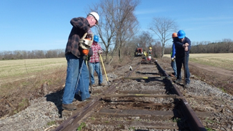 Rails to the Catskills, working on the tracks